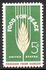 #1231 FOOD FOR PEACE. WHOLESALE LOT OF (10) MINT SINGLES. F-VF NH!