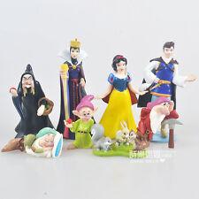 Disney Snow White princess prince figure PVC figures set of 8PCS doll