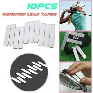 10 Adhesive Lead Tape Strips Add Power Weight to GOLF CLUB Tennis Racket