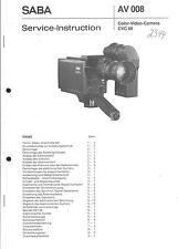 Saba Original Service Manual für Ultracolor Tuner 6058 electronic