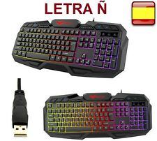 Teclado gaming en español retroiluminado multifuncion HAVIT HV-KB406L letra ñ