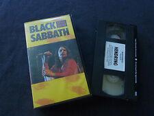 BLACK SABBATH NEVER SAY DIE ULTRA RARE PAL VHS VIDEO! OZZY OSBOURNE