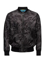 DIESEL Mens J-LEAF Black/Grey Windbreaker Bomber Jacket 00SX14-0AAOQ-900