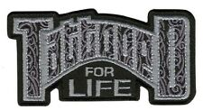"""Motorcycle Biker Uniform Patch 4"""" x 2"""" Tattooed for Life"""
