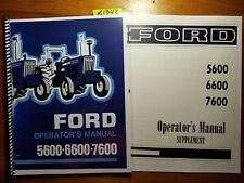 Ford 5600 6600 7600 Tractor 1975-81 Owner Operator's Manual SE 3502 + Supplement