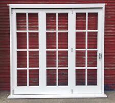Wooden Hardwood Georgian 3 Panes Bi-Folding Doors High Quality unglazed