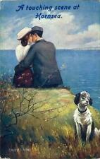 PRINTED POSTCARD A TOUCHING SCENE AT HORNSEA (NEAR BEVERLEY) EAST YORKSHIRE TUCK
