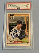 1987 Leaf HOF Greats Stan Musial PSA DNA Auto Autograph Cardinals Cards 1 of 2