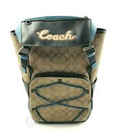 Coach Mens (F76793) Large Terrain Soated Canvas Leather Backpack Bag