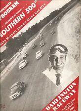 9/3/51 program Southern 500, 2nd annual, Darlington Raceway