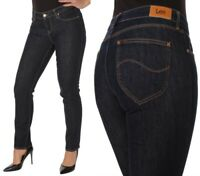 Lee Damen Jeanshose Marion Classic Straight Marineblau (Dark Blue) W29 - W32