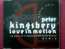 "PETER KINGSBERY  CD SINGLE PROMO ""LOVE IN MOTION"" REMIX"