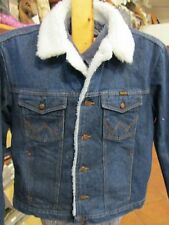 NWT Wrangler Western Sherpa Lined Heavy Denim Jean Jacket Cowboy (Various Sizes)