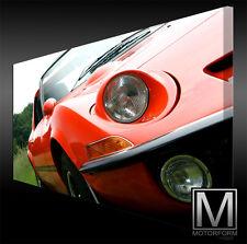 Opel GT Aero auf echter LEINWAND Bild Canvas ART Kunstdruck Leinwandbild Style