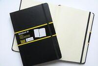 Idena Notizbuch DIN A5 schwarz kariert  Tagebuch  Notizbuch Profinotizbuch