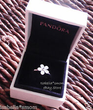 DARLING DAISY Authentic PANDORA Silver/White ENAMEL Flower RING Sz 5/50 NEW!