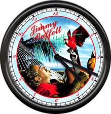 Jimmy Buffett Margaritaville Guitar Parrot Heads Parrothead Sign Wall Clock