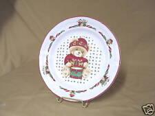 "Tienshan Theodore Bear Christmas Salad Plate 7 5/8"""