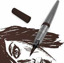 Pentel Colour Brush Pen - Pigment - Grey Barrel - Sepia Ink