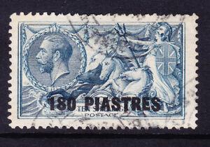 BRITISH LEVANT George V 1921 SG50 180p on 10/- of GB dull grey-blue f/u. Cat £40