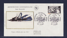 enveloppe 1er jour  architecture contemporaine  69  Givors      1985