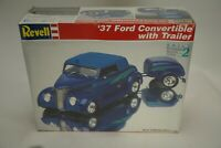 Revell '37 Ford Convertible with Trailer 1:24 Scale Model Kit