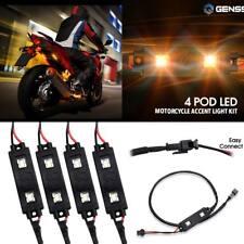 4 Turn signal taillight Amber 8 Led blinker lights Strip for Yamaha motorcycle(Fits: Mastiff)