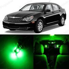 10 x Green LED Interior Light Package For 2011 - 2014 Chrysler 200 + PRY TOOL