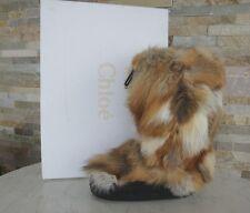CHLOÉ CHLOE Gr 41 42 43 Fell Rotfuchs Stiefel boots Winter Schuhe NEU UVP495€