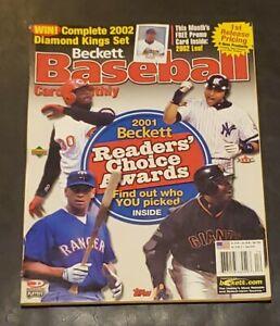 Beckett Baseball Card Monthly Griffey Jeter ARod Bonds April 2002