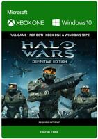 HALO WARS DEFINITIVE EDITION XBOX ONE FULL GAME KEY