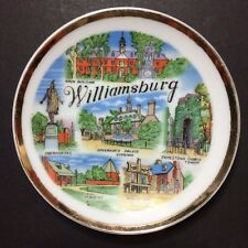 Vintage Williamsburg Virginia Decorative Collectible Souvenir Plate 4""
