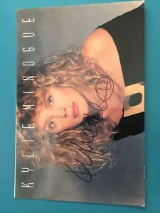 Kylie Minogue Hand Signed Post Card. Genuine