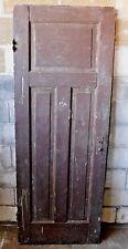 Antique Craftsman Style Three Panel Door - C. 1900 Fir Architectural Salvage