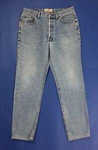 Wampum jeans usato uomo gamba dritta w36 tg 50 denim blu boyfriend vintage T4087