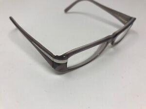 Prada Eyeglasss Frame VPR 14H 51-16-135 7BV-1O1 Gray Translucent Plastic BJ34