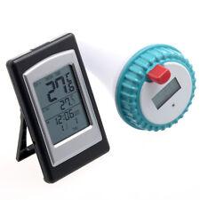 Thermomètre Piscine + Horloge Digitale / Capteur Extérieur Sans Fil