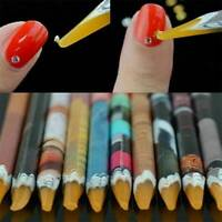 2Pcs Rhinestones Picker Pencil Nail Art Gem Setter Pen Picking Tool Wax Crystal