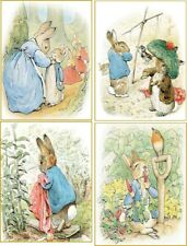 Vintage Beatrix Potter 8 Peter Rabbit illustrations with 8 envelopes stationery