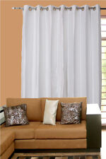 Ivory or White Faux Silk Dupion Curtains Eyelet Top High quality products