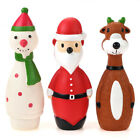 Chiwava 3 Pack Squeaky Dog Toys for Small Dogs Snowman Pet Puppy Stick Fetch Toy