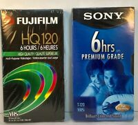 Lot of 2 VHS Video Tapes Sony & Fuji New sealed