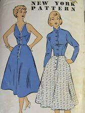 Charming VTG 40s NEW YORK 1135 Misses Dress & Jacket PATTERN 12/30B