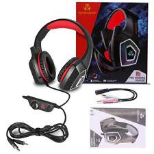 Ecouteurs PC Xbox One Jeu Casque d'écoute Headset Haute précision -38 ±3dB Roug