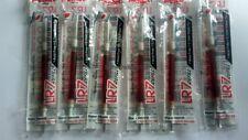 6x Pentel LR7 EnerGel Roller Liquid Gel Pen Refills (Red Ink) (0.7mm) New