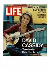 VINTAGE 1971 LIFE MAGAZINE COVER DAVID CASSIDY TEEN HEARTTHROB GUITAR AD PRINT