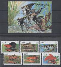 POISSON Guinée 6 val 1 bloc de 1998 ** FISH FISCH PESCE