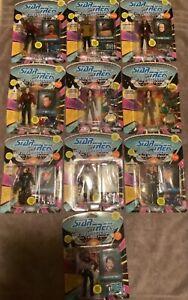Star Trek The Next Generation 10 Action Figure Lot MOC Playmates 1992 & 1993