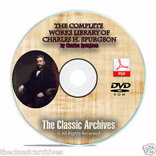 CH Spurgeon 3500 Bible Sermons, Complete Works Christian Bible Study DVD-ROM F06