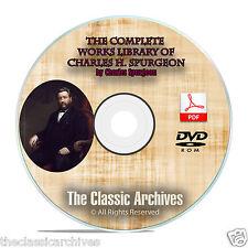 CH Spurgeon 3500 Bible Sermons, Complete Works Christian Bible Study DVD-ROM F06